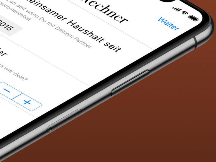 screenshot CareRechner App